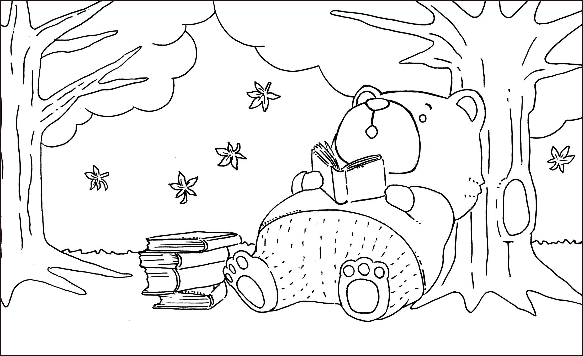 レク素材 秋の塗り絵 安井弘明介護レク広場レク素材やレクネタ